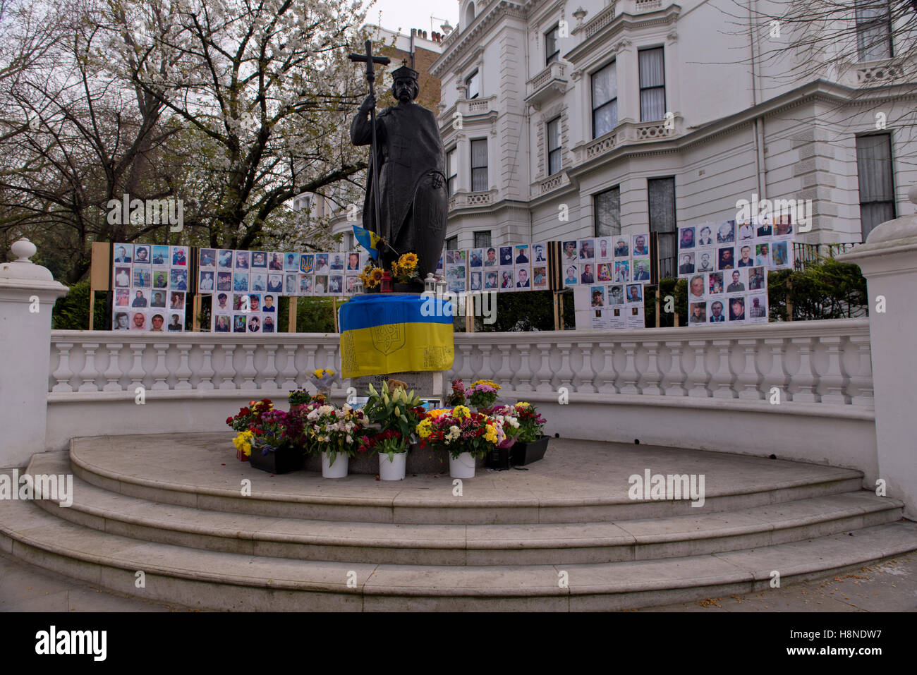 Ukranian embassy memorial for the dead - Stock Image
