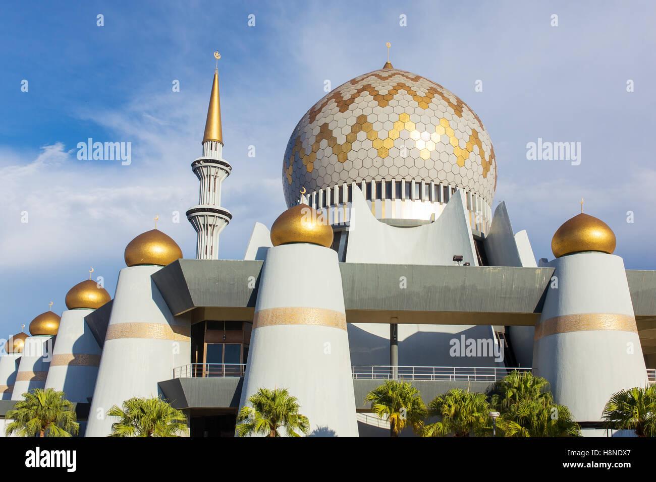 Kota Kinabalu, Malaysia - June 7, 2016: Masjid Negeri Sabah the state mosque of Sabah in Kota Kinabalu, Malaysia - Stock Image