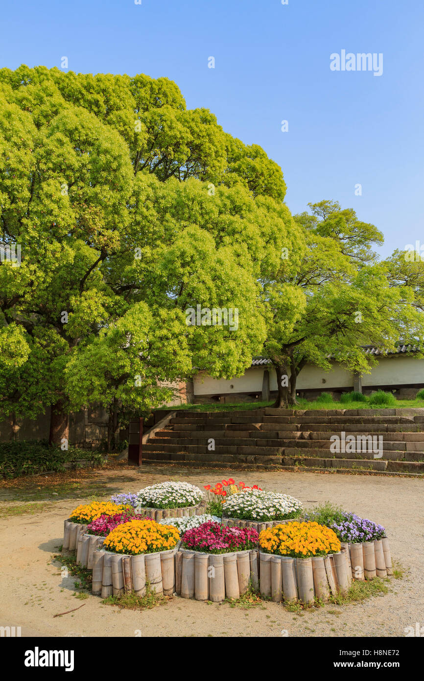 Beautiful flower garden of osaka castle osaka japan stock photo beautiful flower garden of osaka castle osaka japan izmirmasajfo