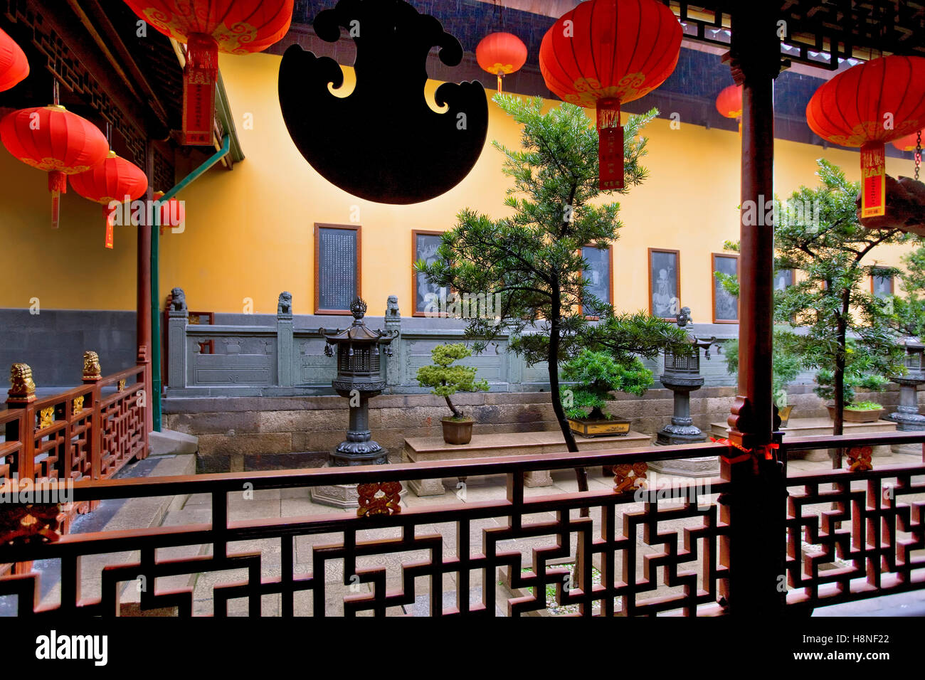 Jade temple in Shanghai - Stock Image