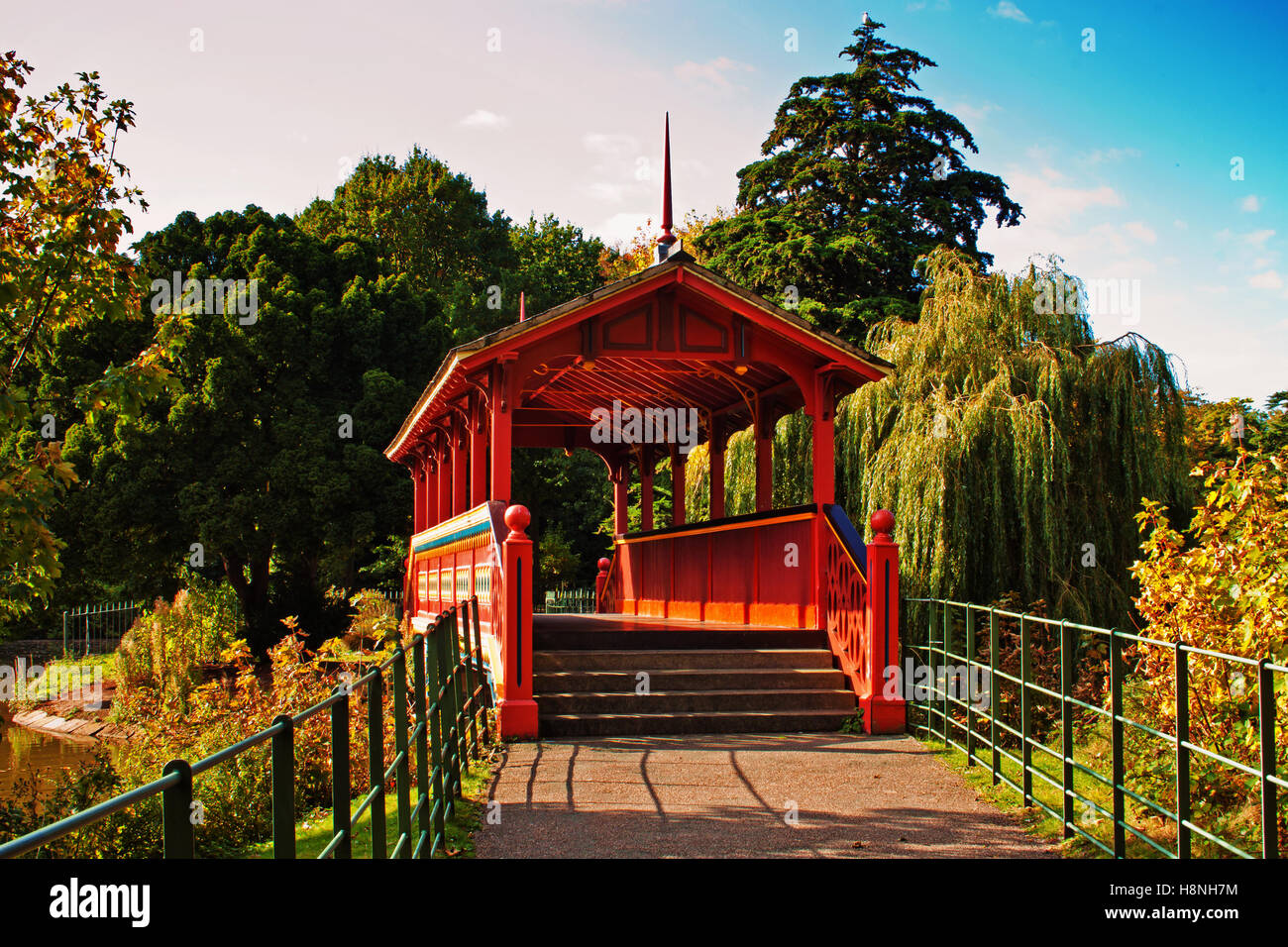 Approaching the Swiss Bridge - Stock Image
