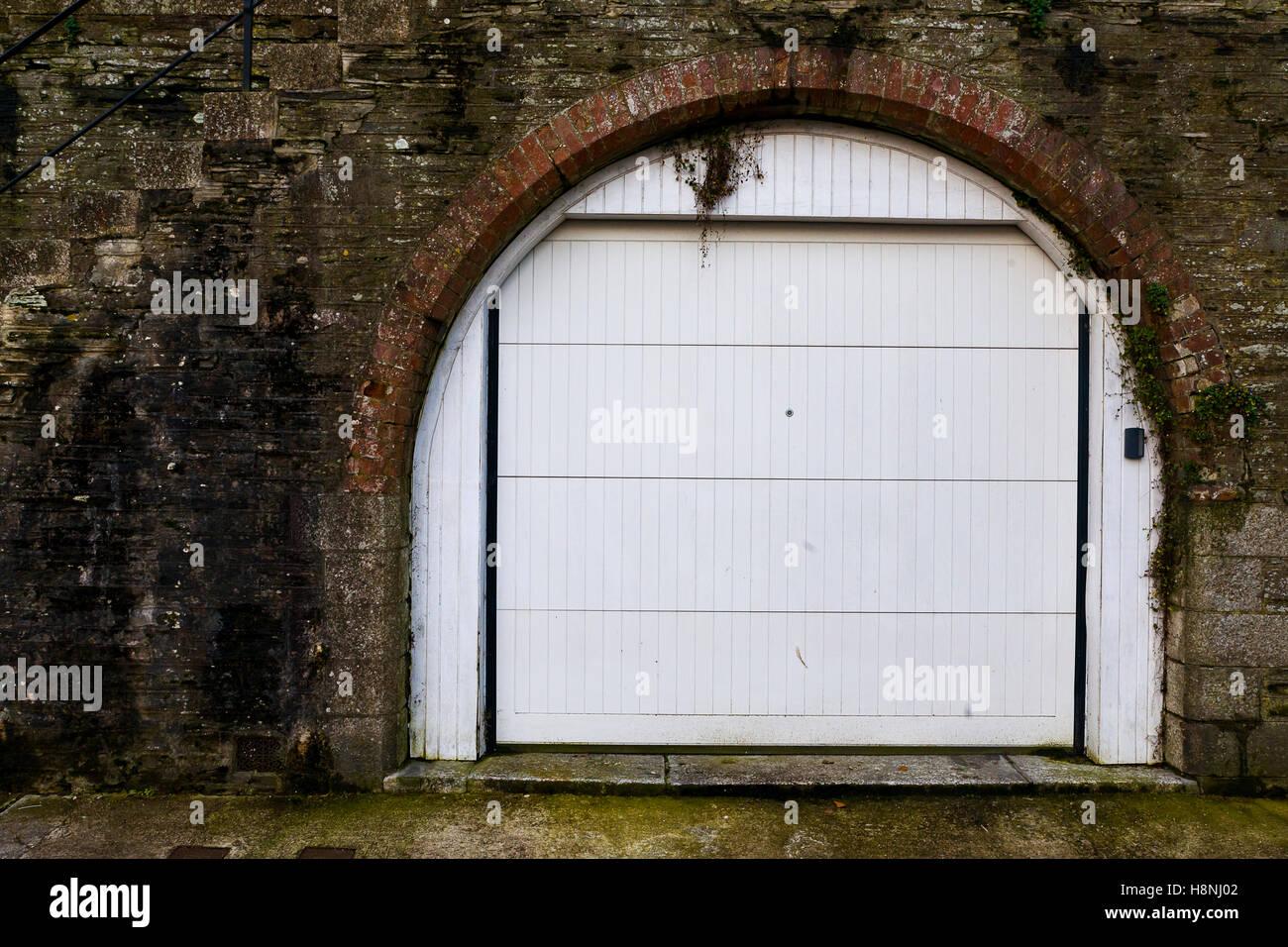 Garage Store Room Built Under Housing - Stock Image