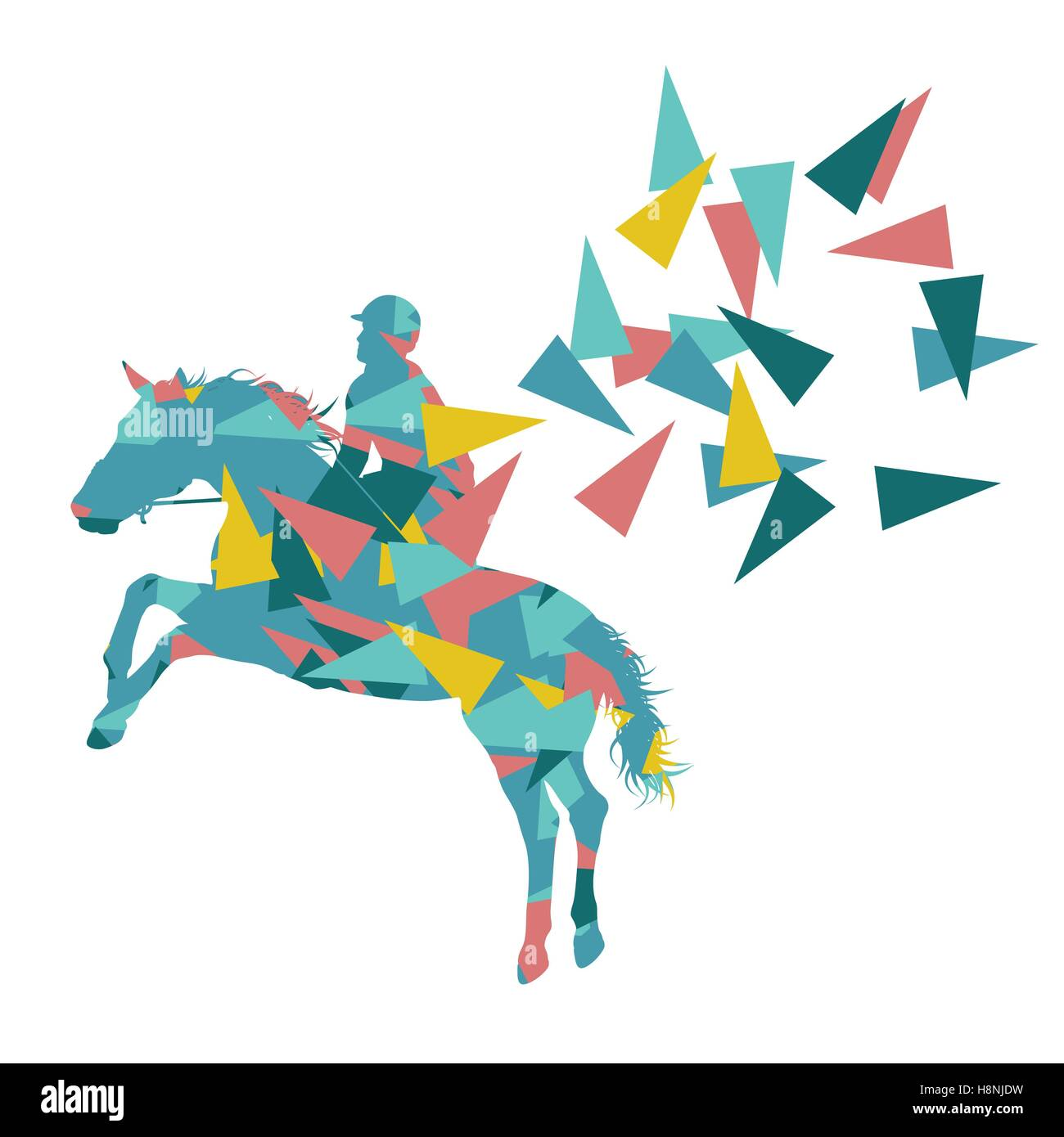 Horse Riding Vector Background Abstract Illustration Concept Made Of Stock Vector Image Art Alamy