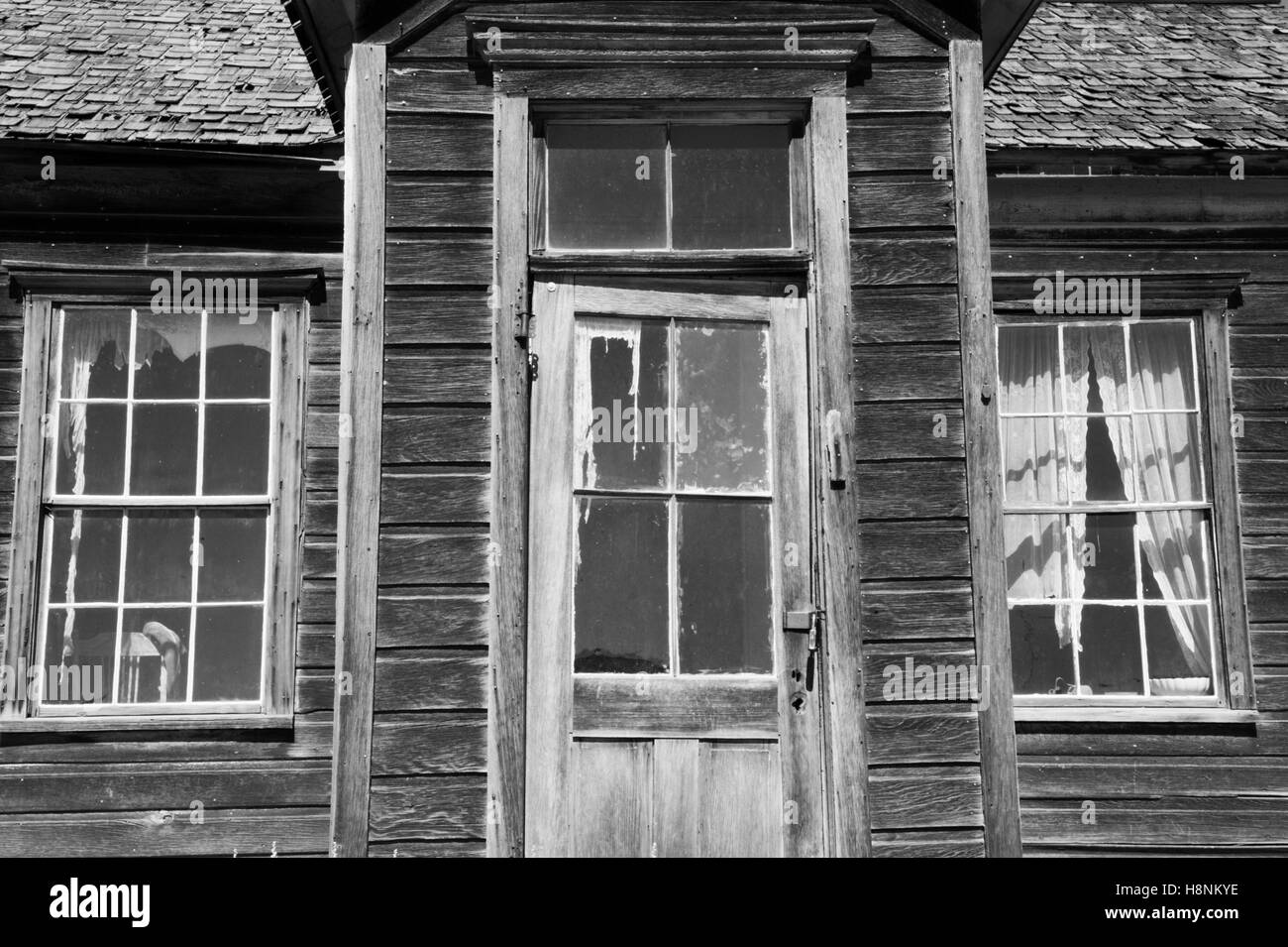 Weathered Wood, Bodie Ghost Town, Eastern Sierra Nevada, California - Stock Image