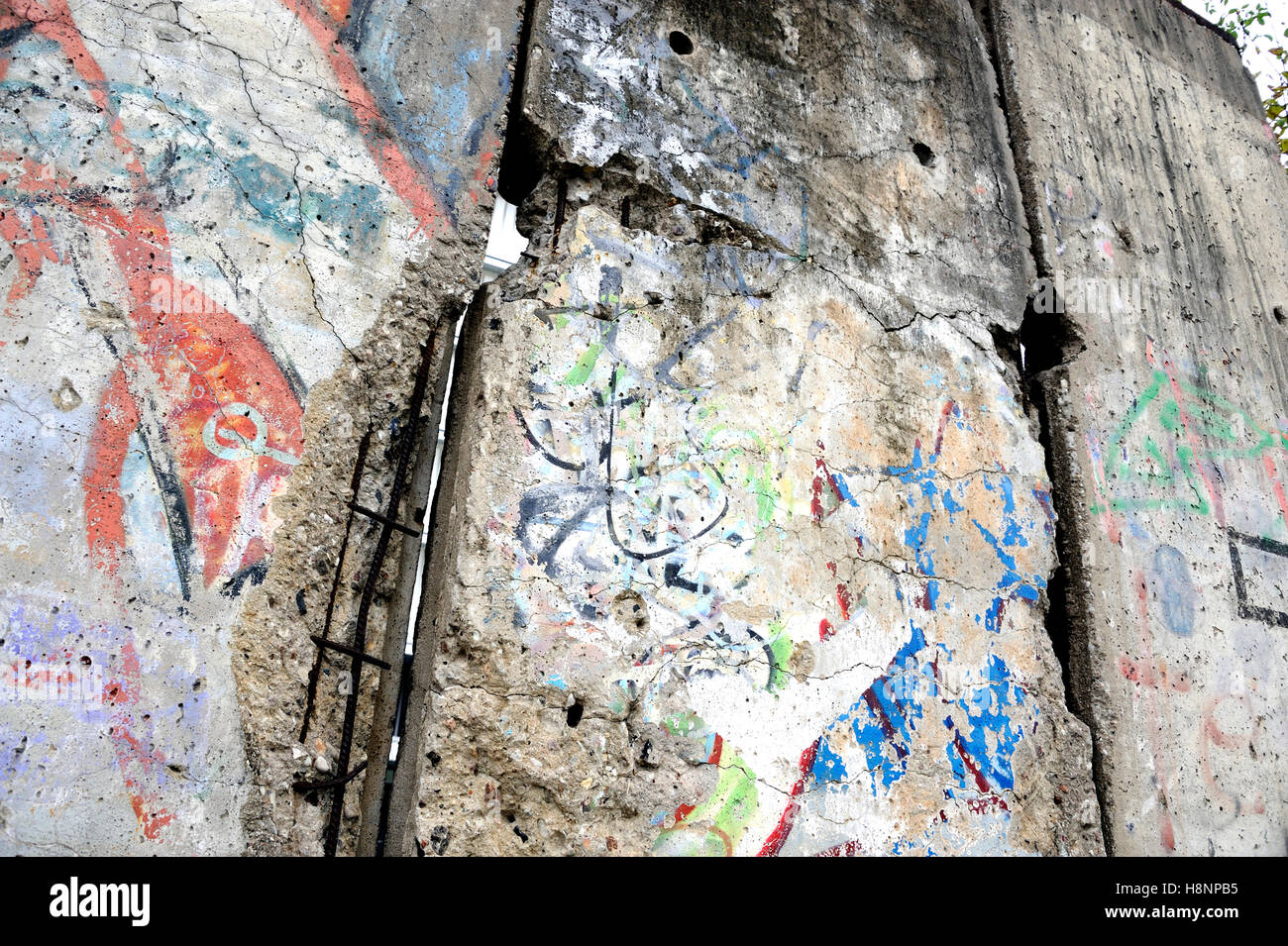 East Berlin West Russia war Germany Mauer Soviet - Stock Image