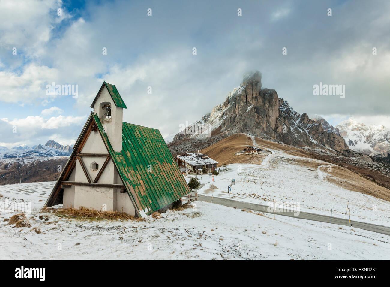 Giau Pass, Dolomites, Italy. - Stock Image