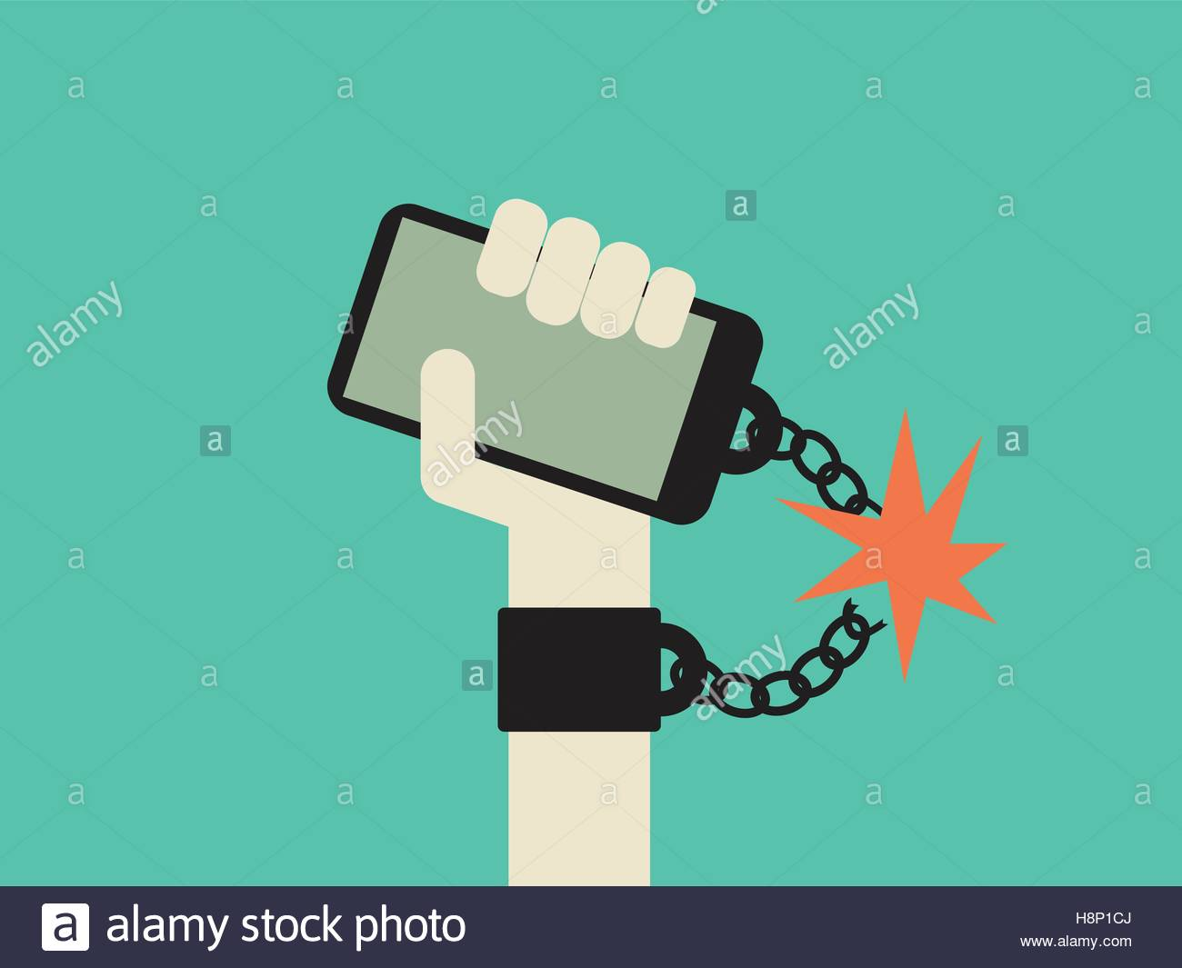 Break free from smartphone and technology addiction vector