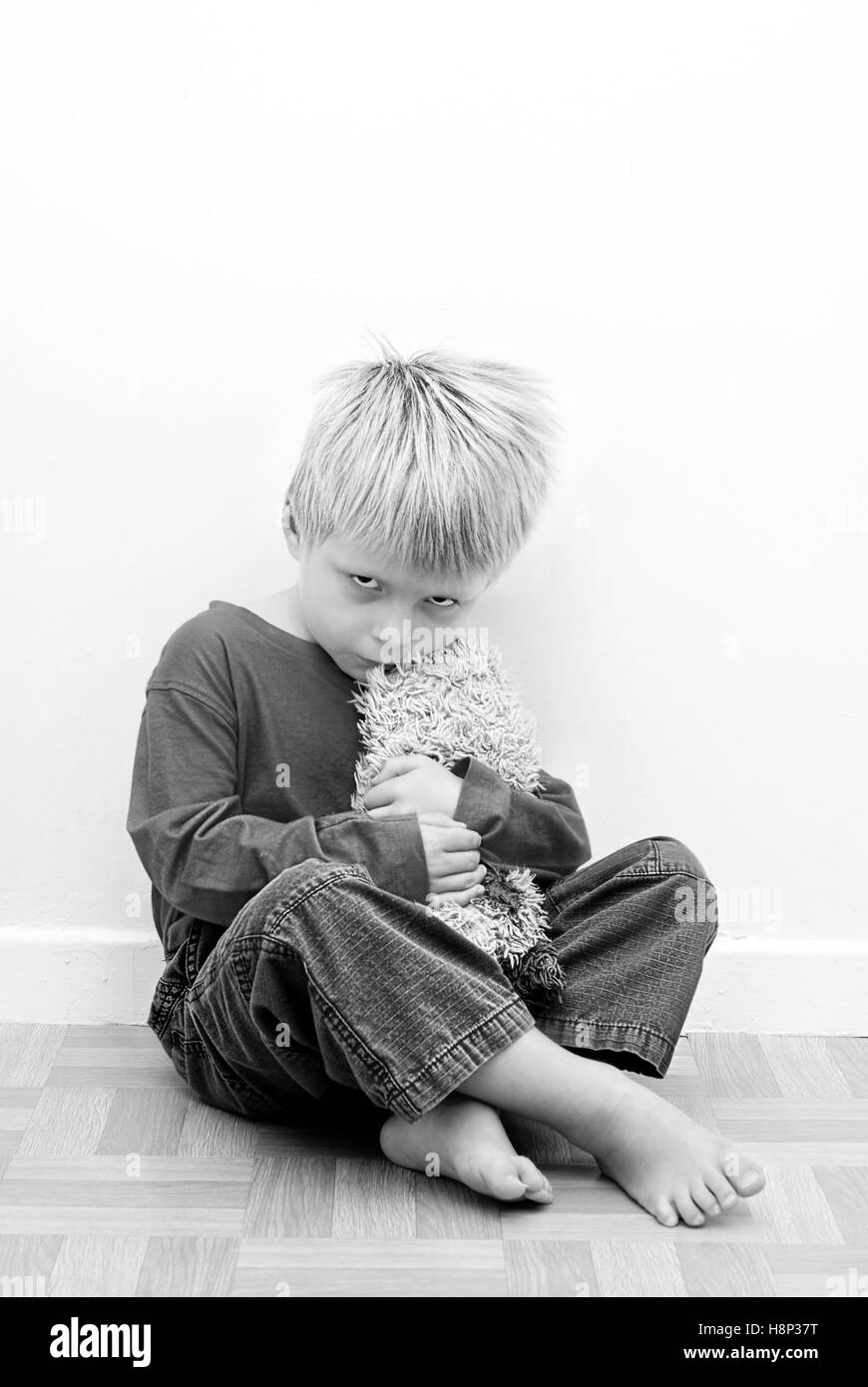 Contrasty Image of Child representing Autistic Behaviour