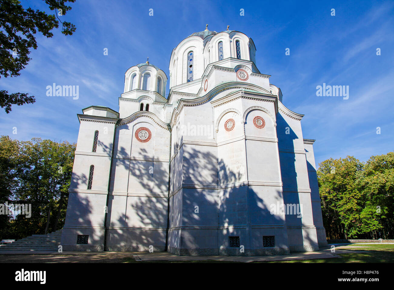 The Church of Saint Sava is a Serbian Orthodox church located on the Vracar plateau in Belgrade. It is one of the - Stock Image
