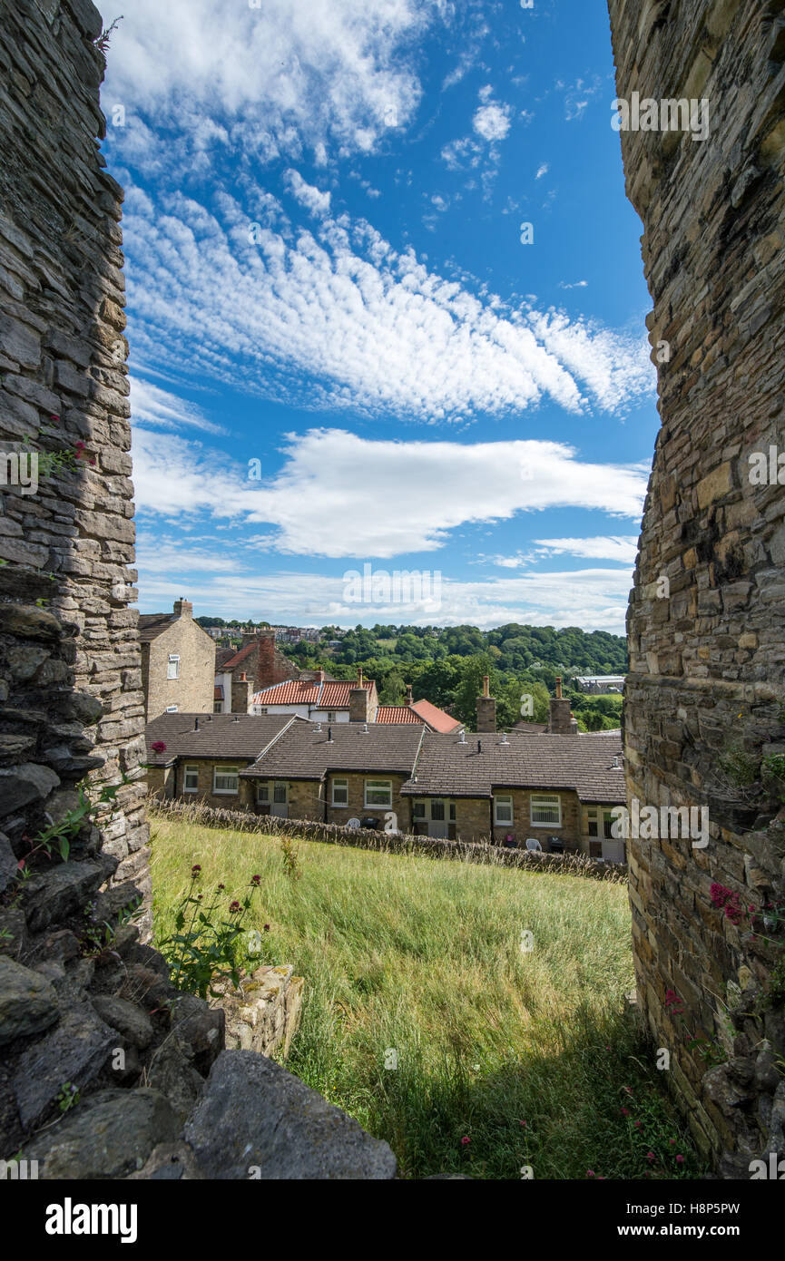 UK, England, Yorkshire, Richmond - The Richmond Castle, one of North Yorkshire's most popular tourist attractions - Stock Image
