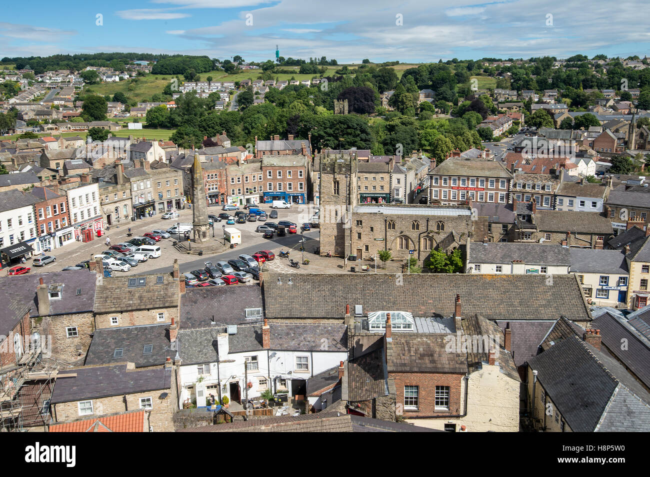 UK, England, Yorkshire, Richmond - Traditional architecture in the city of Richmond located in Northern Yorkshire. - Stock Image