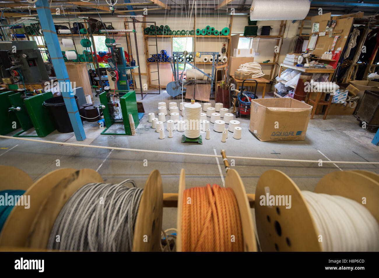 UK, England , Yorkshire -Rope factory in Hawes - Stock Image