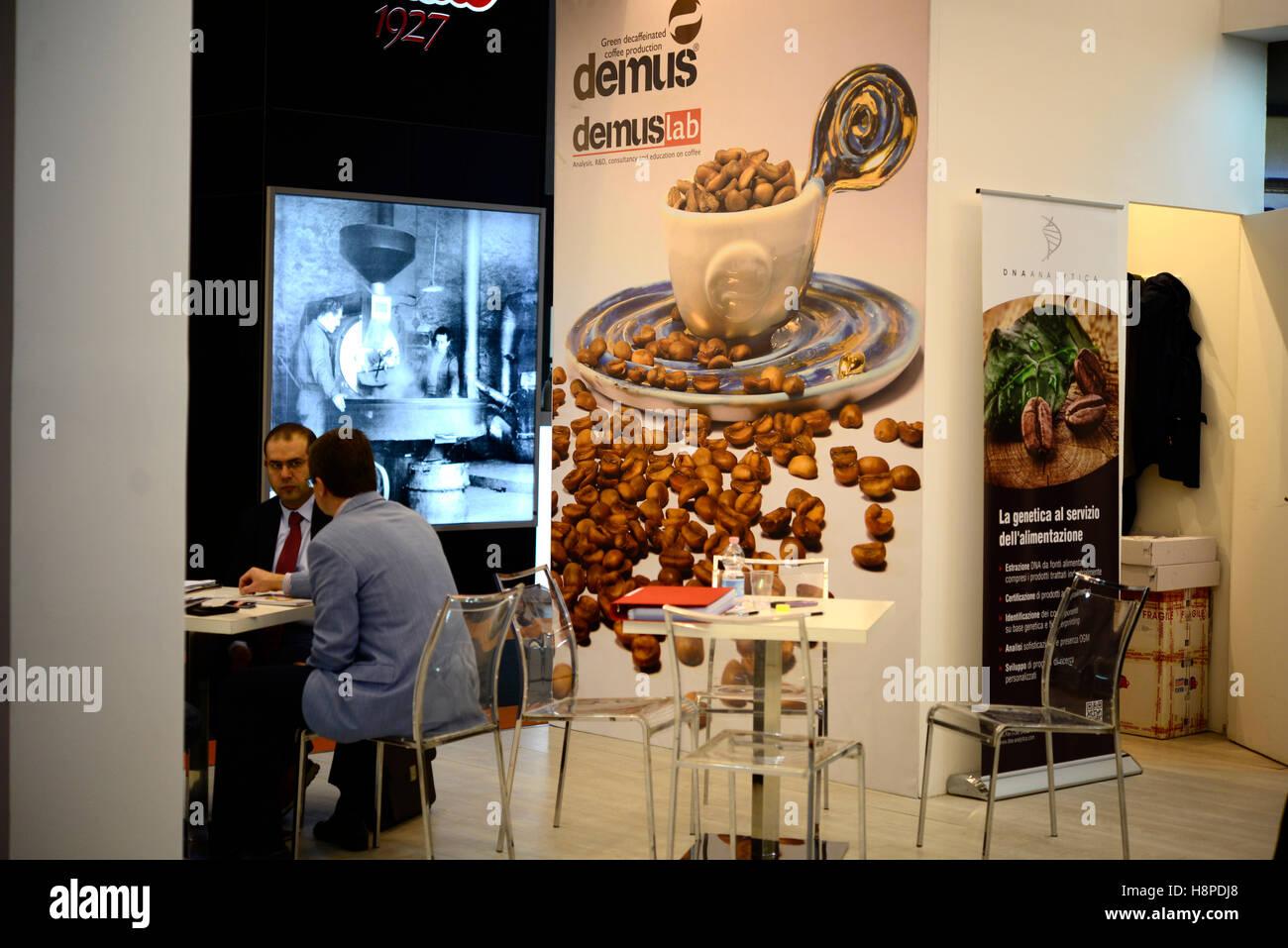 Italy Trieste Friuli V.G. Triestespresso Expo Coffee Exhibition Business Area - Stock Image