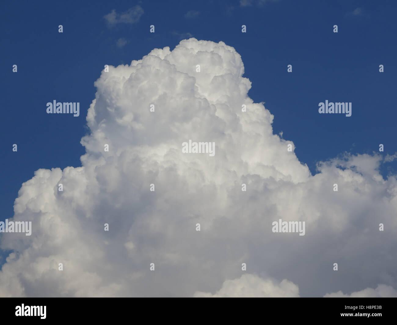 cumulonimbus clouds over Guadalhorce Valley Andalusia Spain - Stock Image
