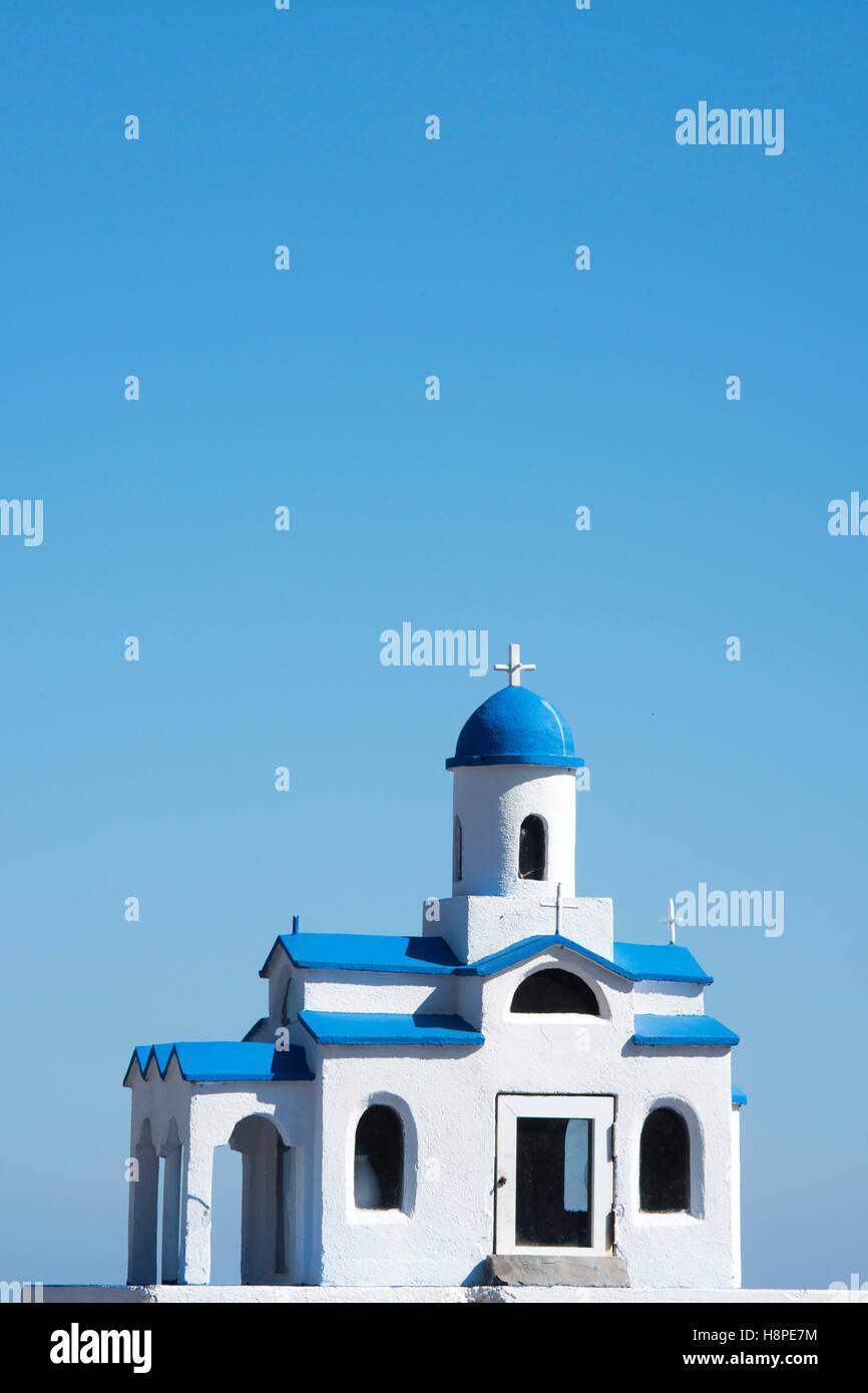 Griechenland, Kreta, Kapelle bei Kato Loumas an der Strasse von Vrouchas nach Neapolis - Stock Image