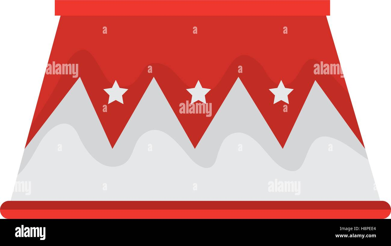 circus podium isolated icon vector illustration design - Stock Vector