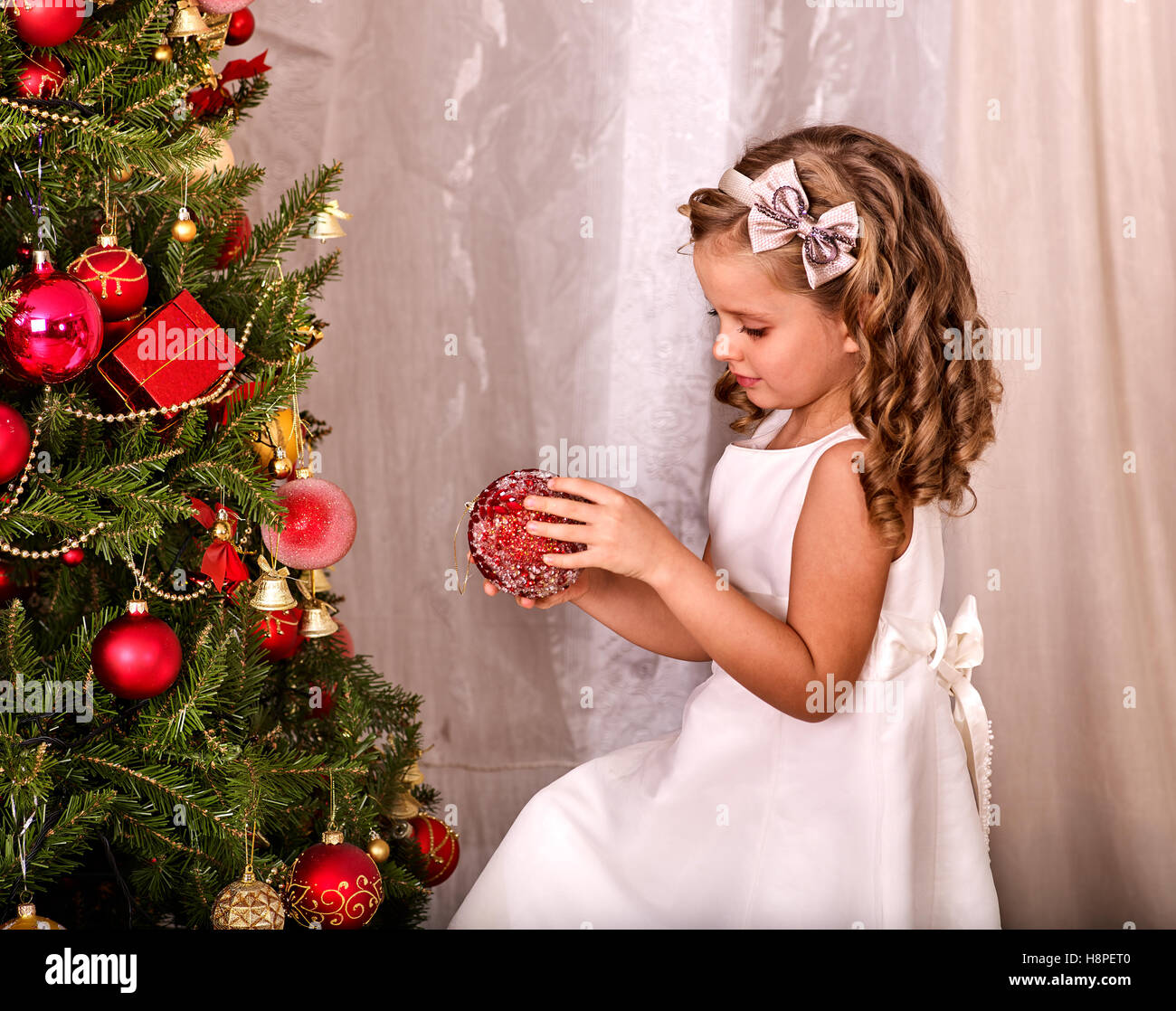 Child Decorate On Christmas Tree Home Alone