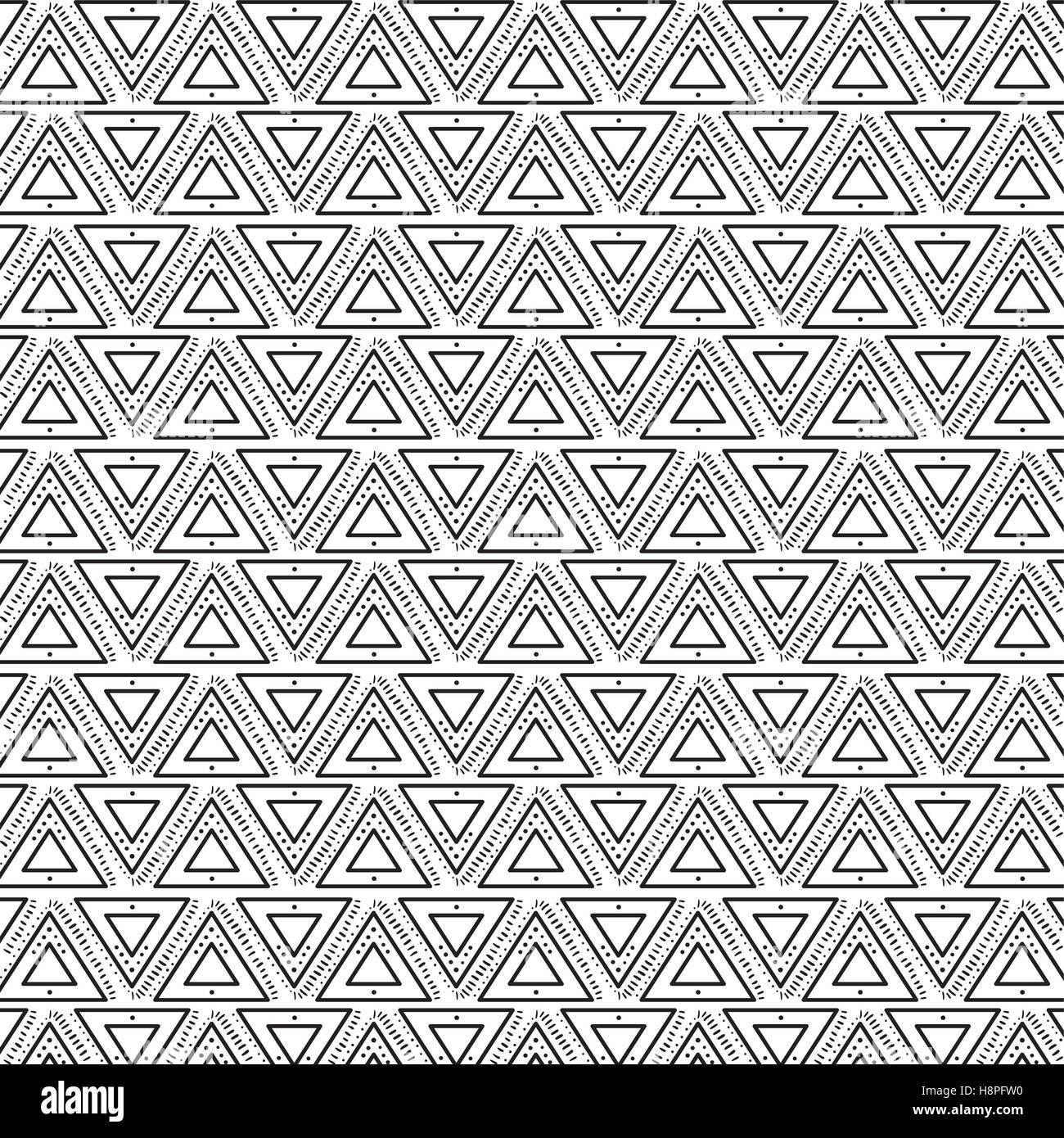 Boho Style Black And White Background Design Bohemic Decoration Stock Vector Image Art Alamy