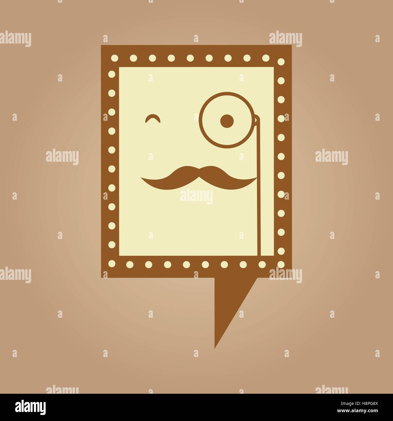 symbol hipster monocle and mustache icon vector illustration eps 10 ...