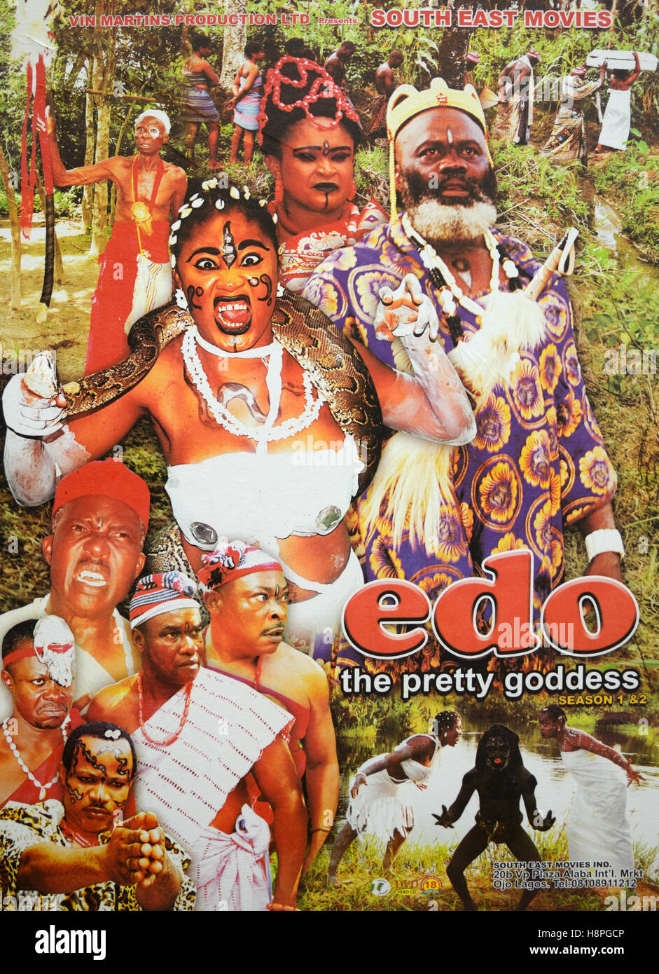 Nigerian Nollywood Film Movie Poster Stock Photos & Nigerian