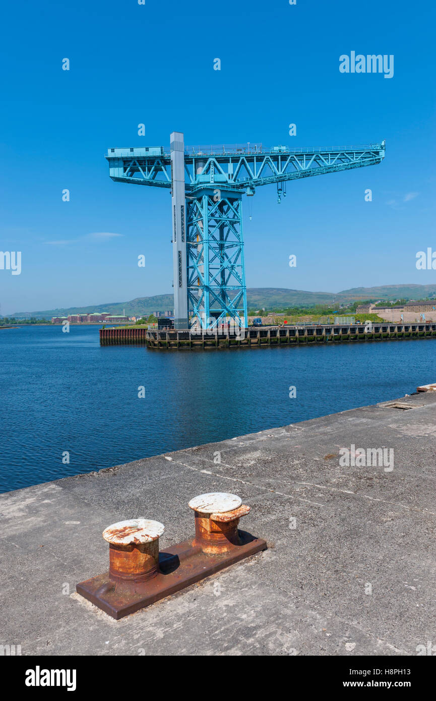The titan crane at Clydebank on the site of the old John brown shipbuilders - Stock Image