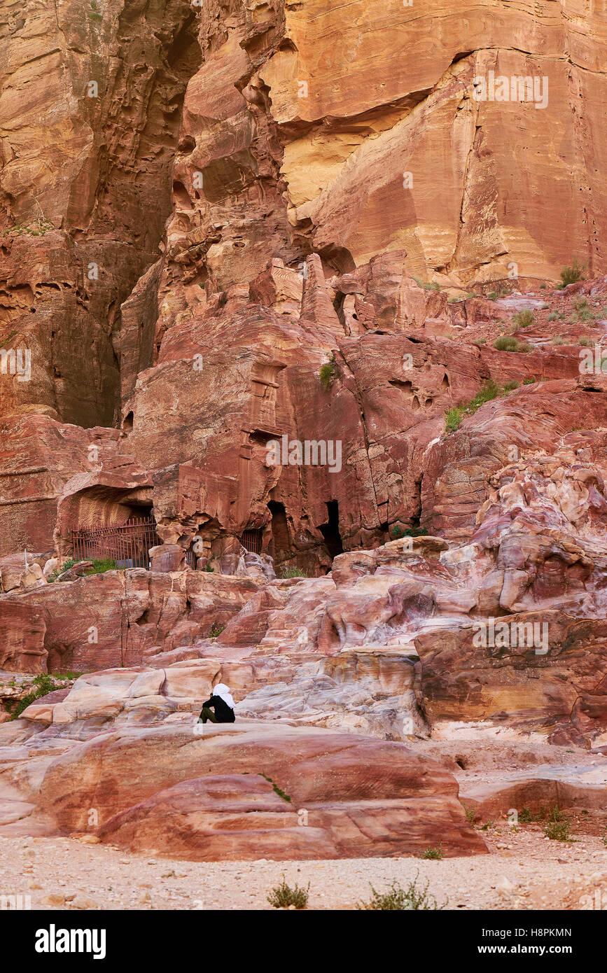 Ancient city of Petra, Jordan - Stock Image