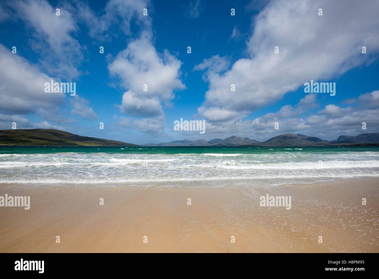 Sandy Luskentyre Beach, Isle of Harris, Outer Hebrides, Scotland, United Kingdom Stock Photo