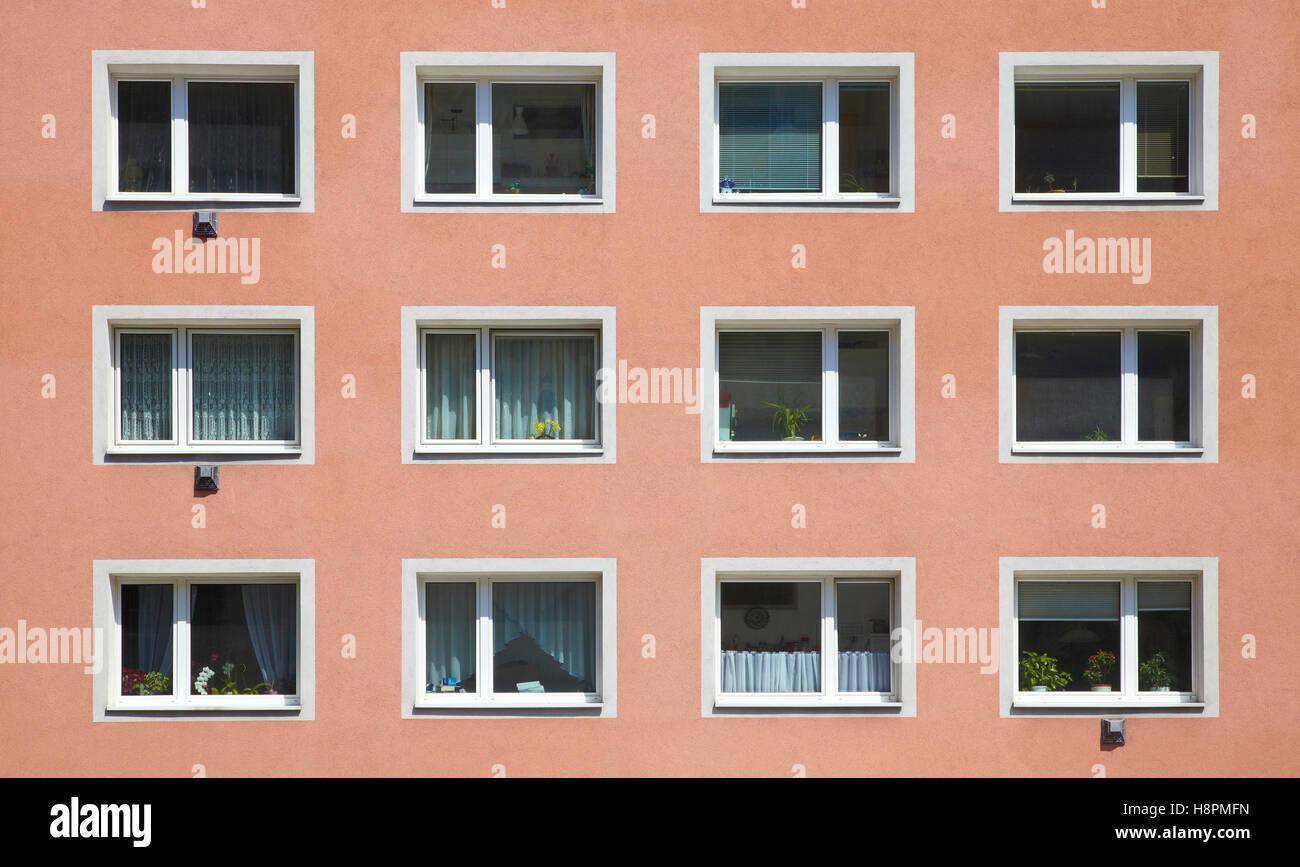Facade, Linz, Upper Austria, Austria, Europe - Stock Image