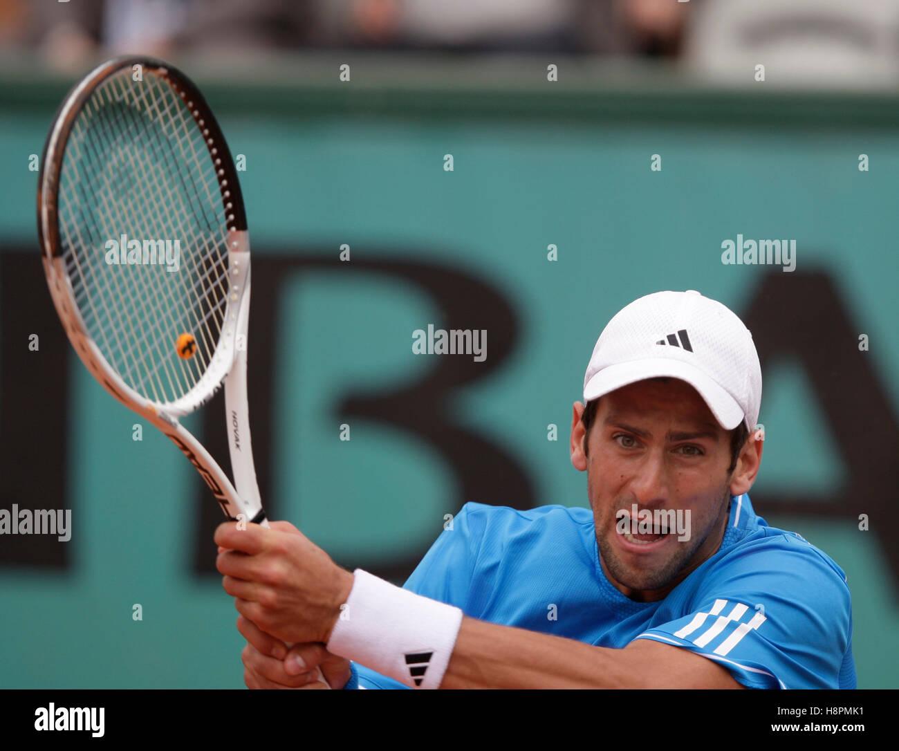 Novak Djokovic Backhand Stock Photos   Novak Djokovic Backhand Stock ... 081f367eab714