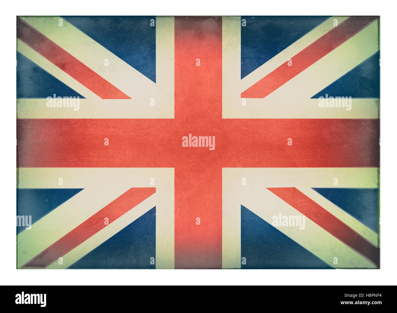 A distressed Union Jack Flag - Stock Image