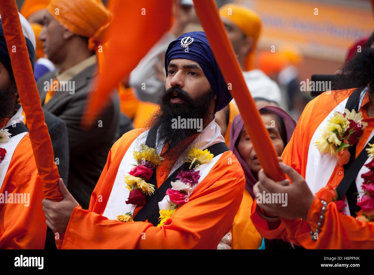 1/11/11 Opening of Manchester's biggest Gurdwara . Sri Guru Gobind Singh Gurdwara , Upper Chorlton Road , Whalley - Stock Image