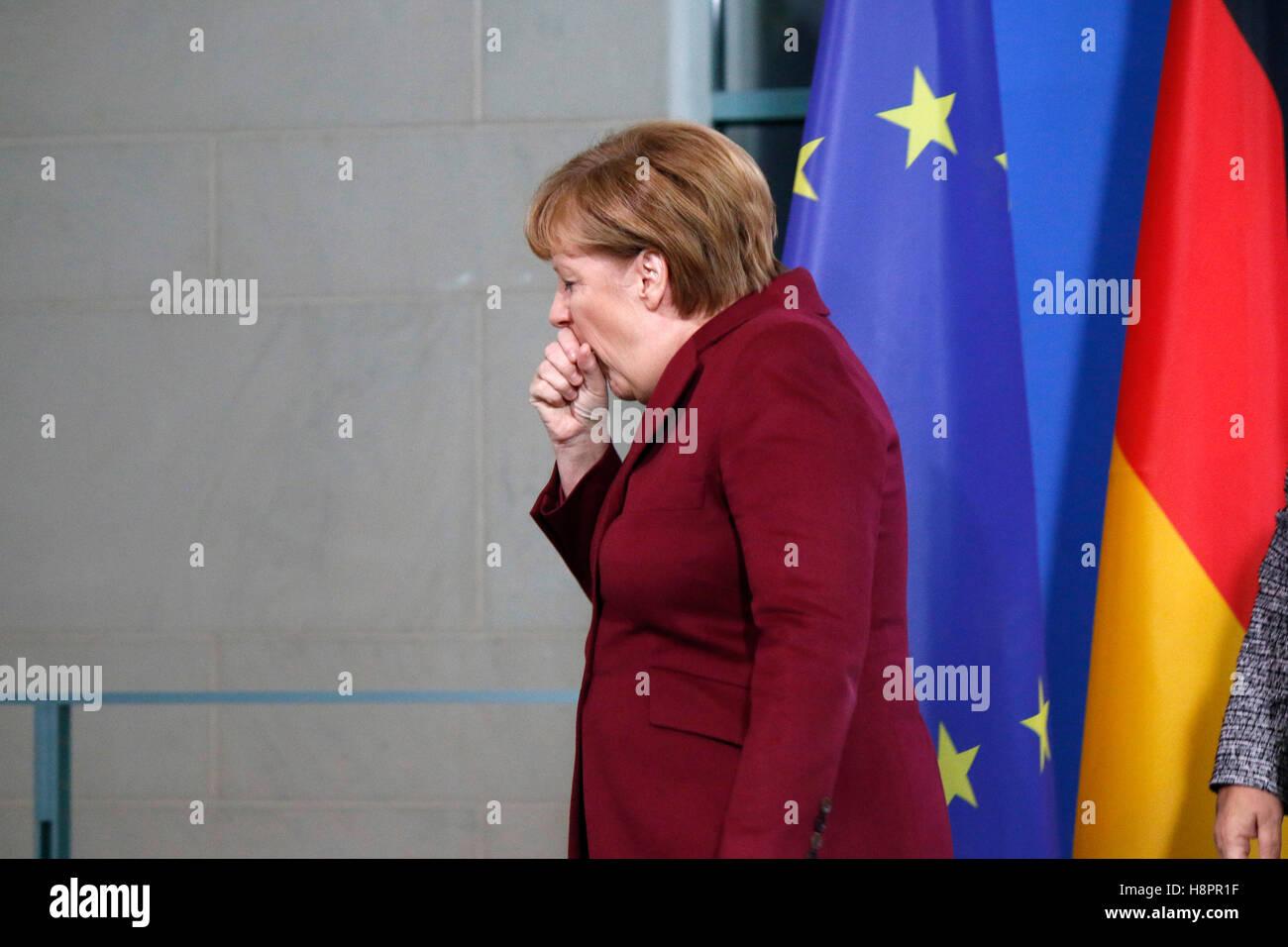BKin Angela Merkel - Treffen der dt. Bundeskanzlerin mit der norwegischen Ministerpraesidentin, Bundeskanzleramt, - Stock Image