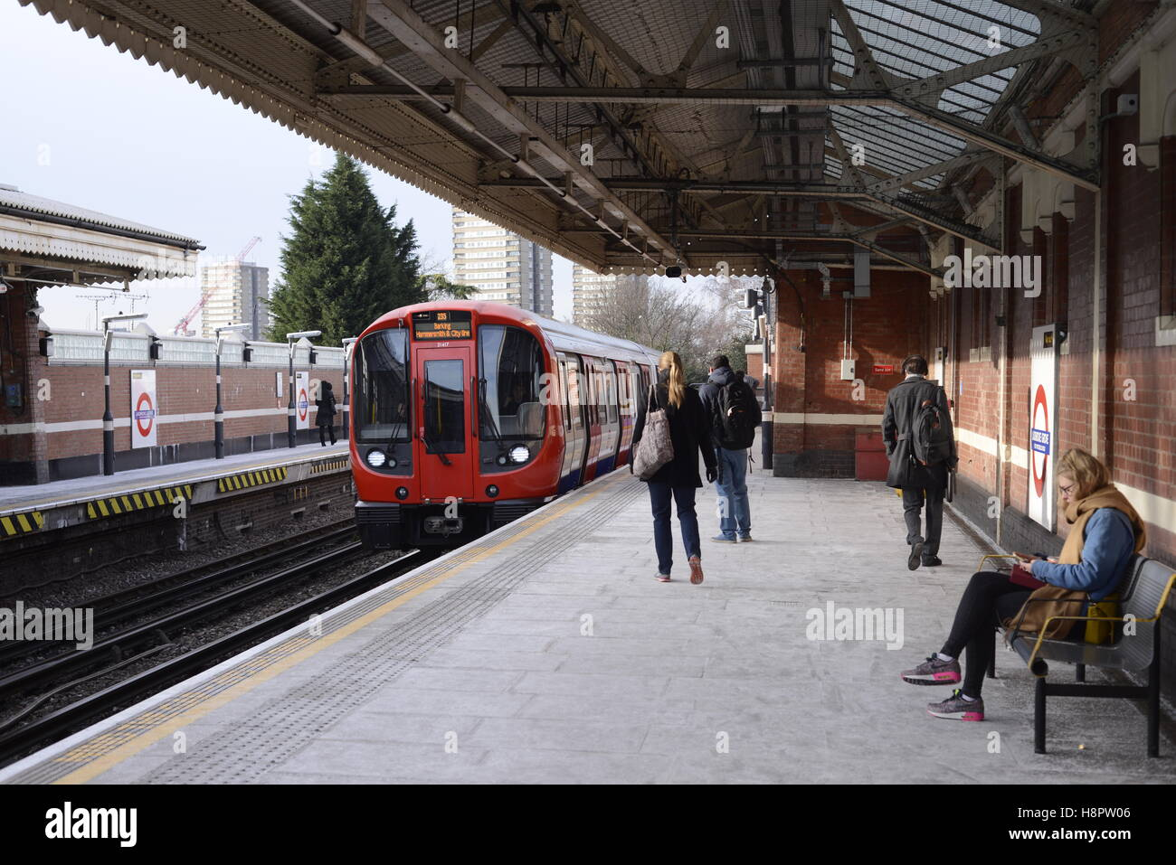 LAdbroke Grove tube station Stock Photo