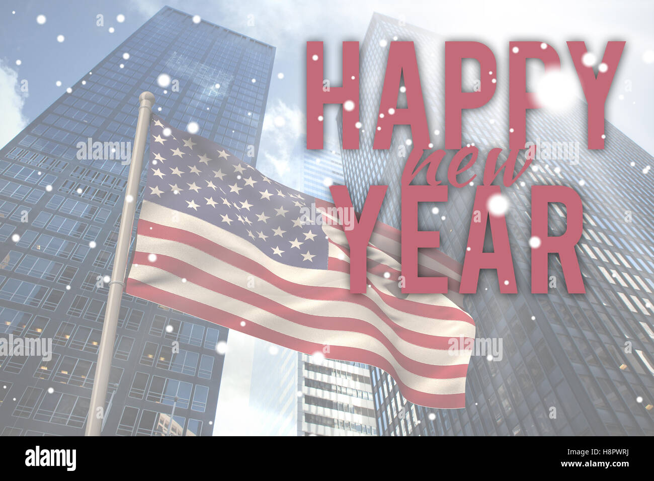 Composite image of new year graphic - Stock Image