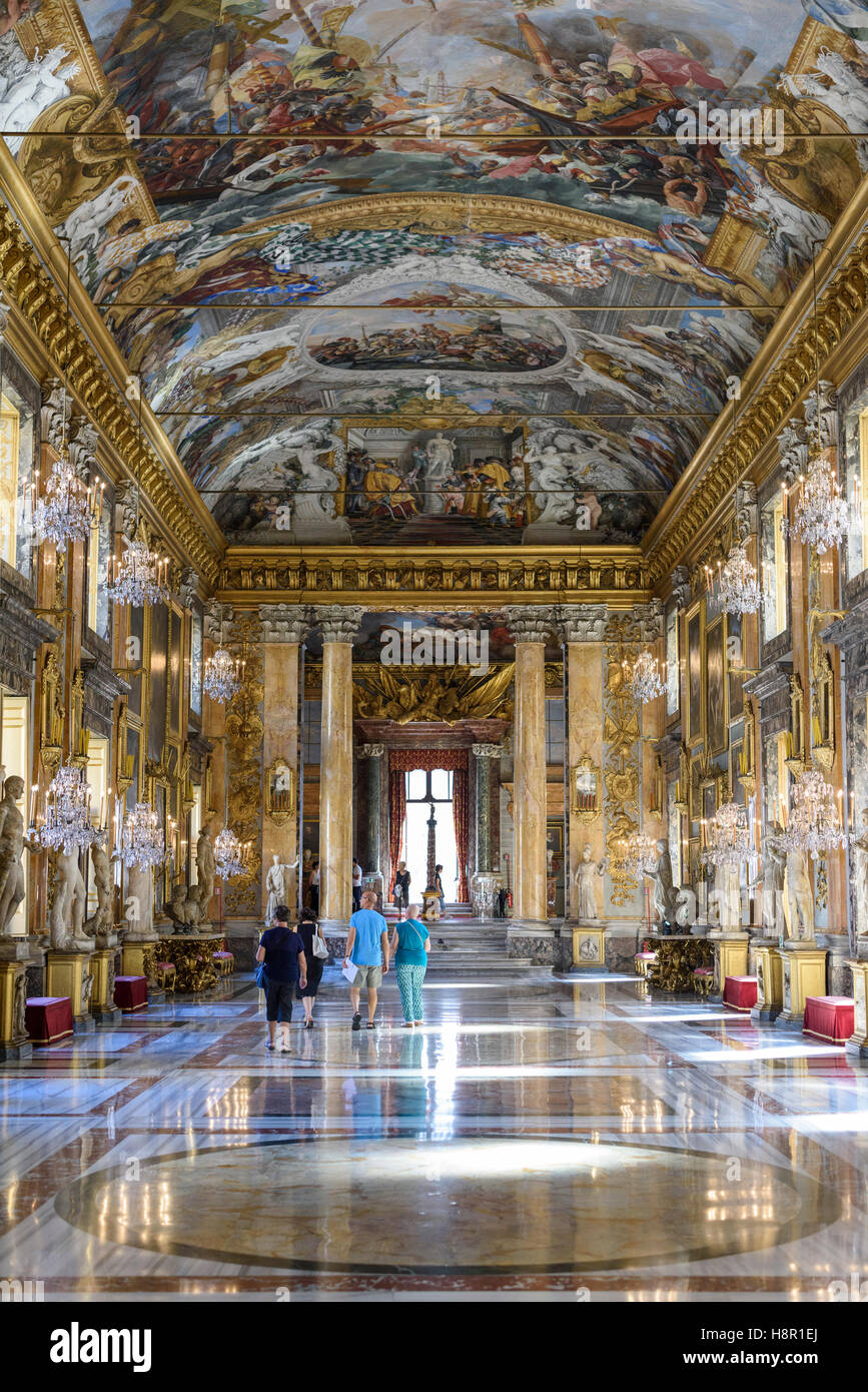 Rome. Italy. Galleria Colonna. Palazzo Colonna has belonged to the Colonna family for over twenty generations. - Stock Image