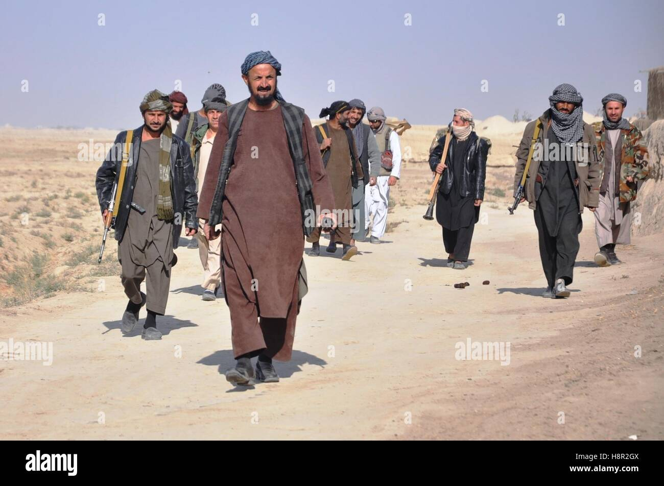 Jauzjan Afghanistan 15th Nov 2016 Pro Government Militants Take Part In An Uprising Against Taliban Militants In Faizabad District Of Jauzjan Province Afghanistan Nov 15 2016 Hundreds Of People Have Taken Up Arms