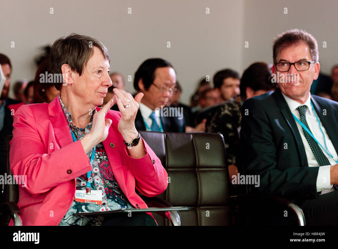 Marrakech, Morocco. 15th Nov, 2016. The German Federal Minister of the Environment Barbara Hendricks and Federal Stock Photo