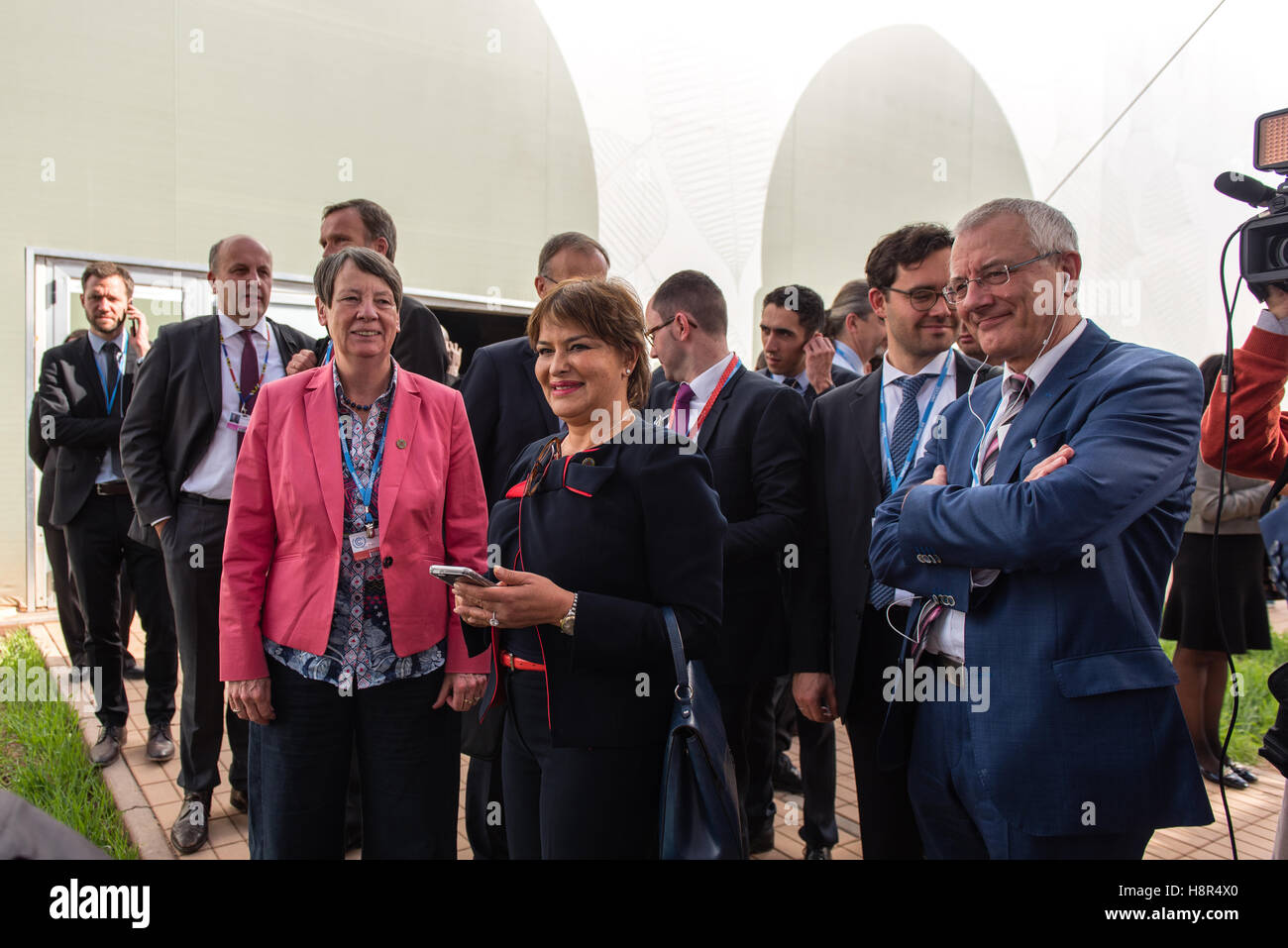 Marrakech, Morocco. 15th Nov, 2016. The German Federal Minister of the Environment Barbara Hendricks and the Moroccan - Stock Image