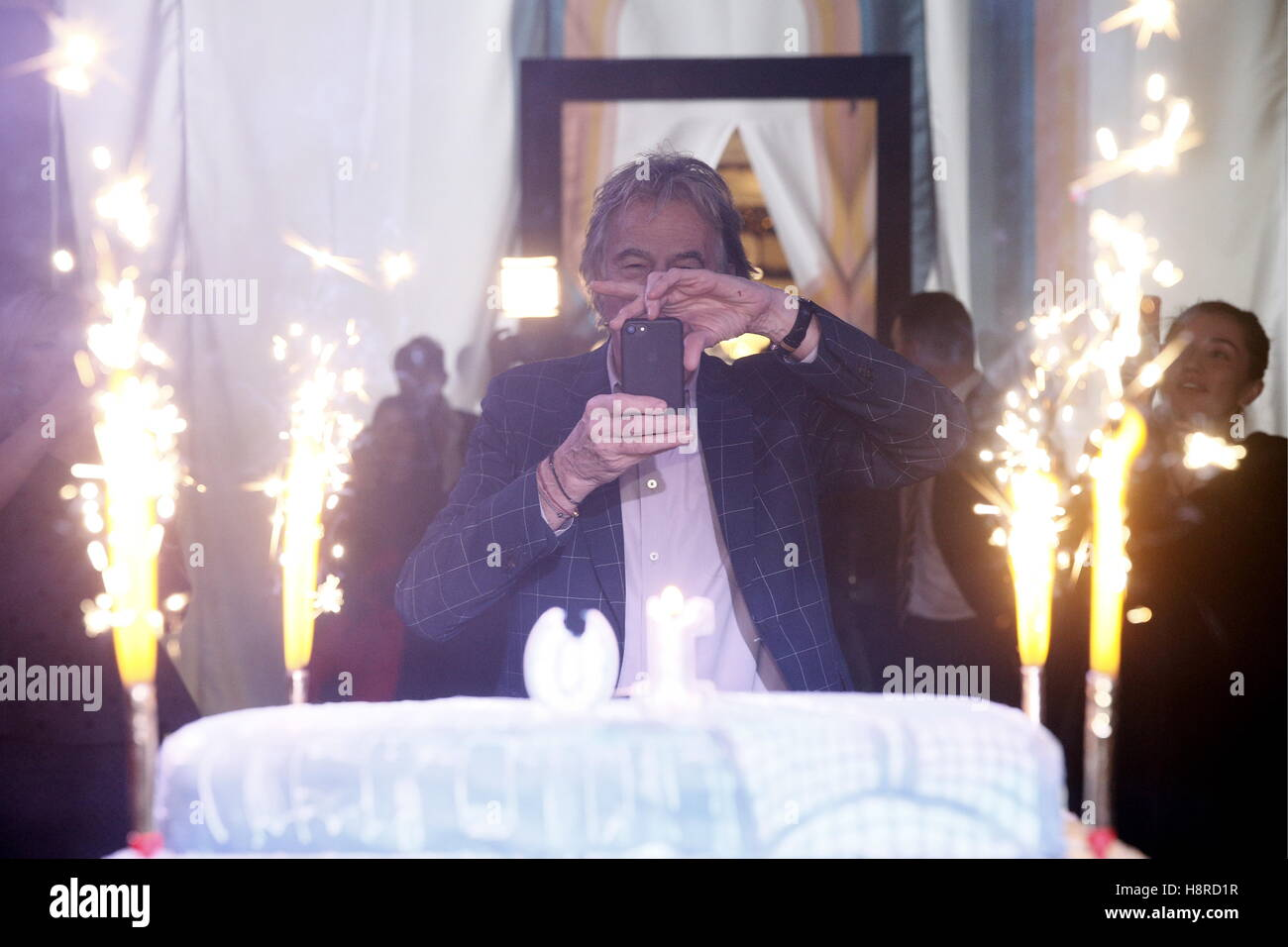 Moscow, Russia. 16th Nov, 2016. British fashion designer Paul Smith attends an event marking the 10th birthday of - Stock Image