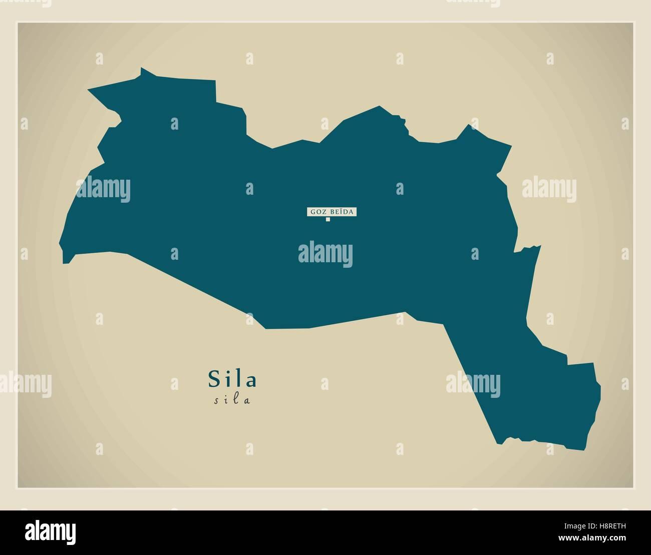Modern Map - Sila TD - Stock Image