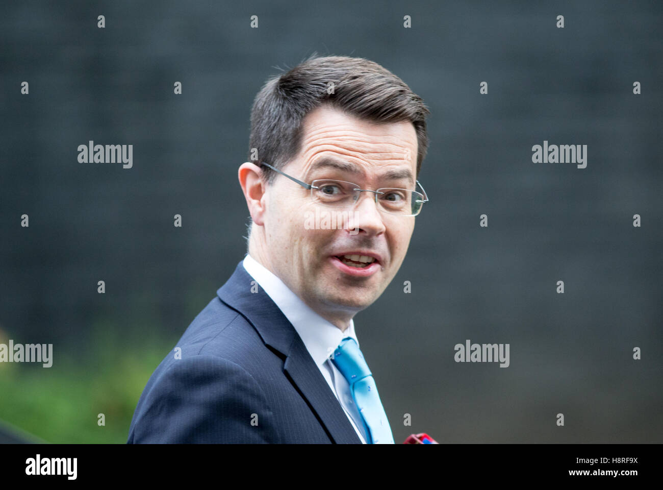 James Brokenshire,secretary of State for Northern Ireland,arrives at 10 Downing Street,for a Cabinet meeting Stock Photo