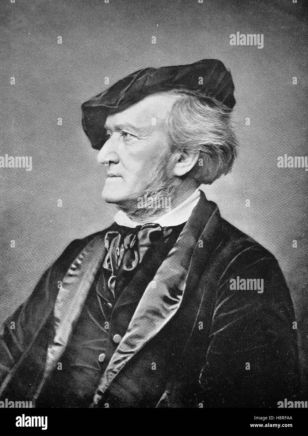 Wilhelm Richard Wagner was a German composer, theatre director, polemicist, and conductor who is primarily known - Stock Image