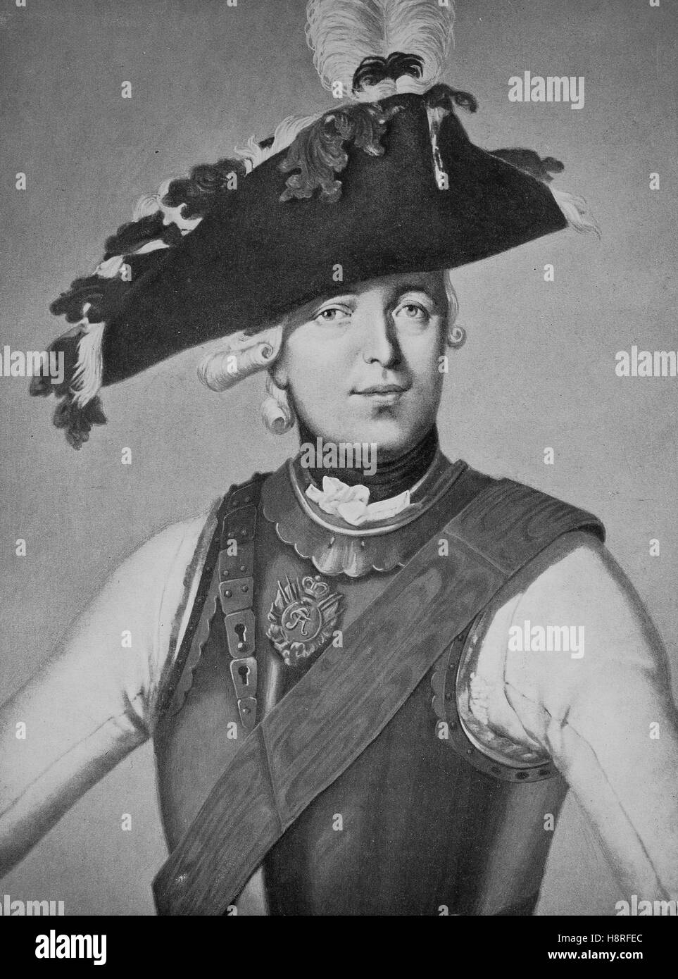 Friedrich Wilhelm Freiherr von Seydlitz was a Prussian officer and one of the greatest German cavalry generals Stock Photo