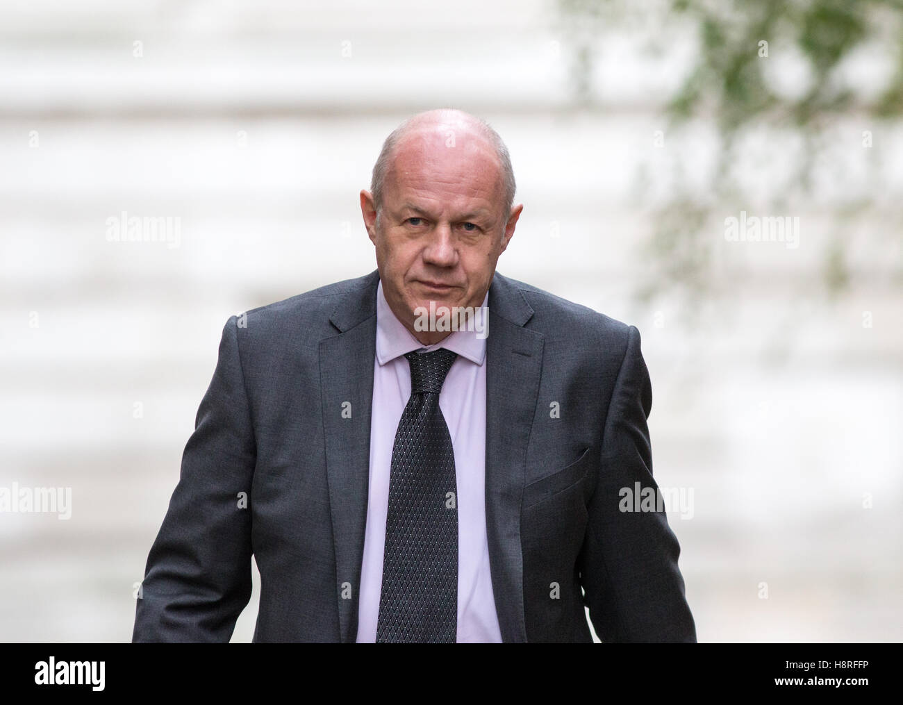Britain's Work and Pensions Secretary,Damian Green,arrives for a meeting of the Cabinet at 10 Downing Street - Stock Image