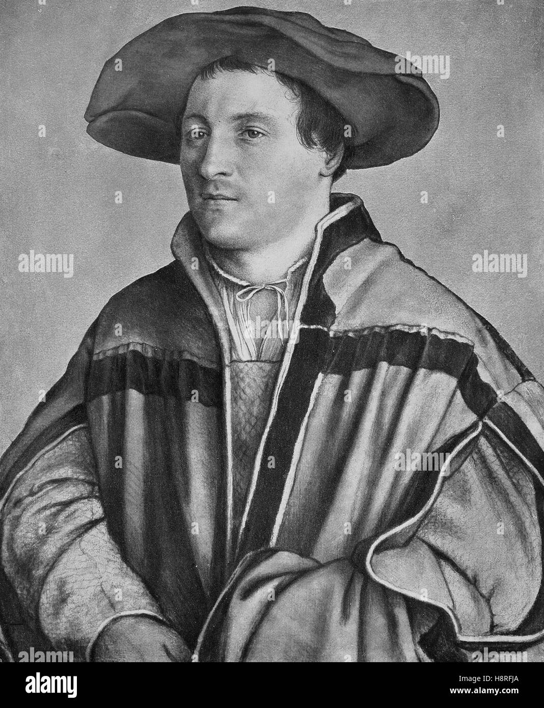 Hans Holbein the Younger was a German and Swiss artist and printmaker who worked in a Northern Renaissance style - Stock Image