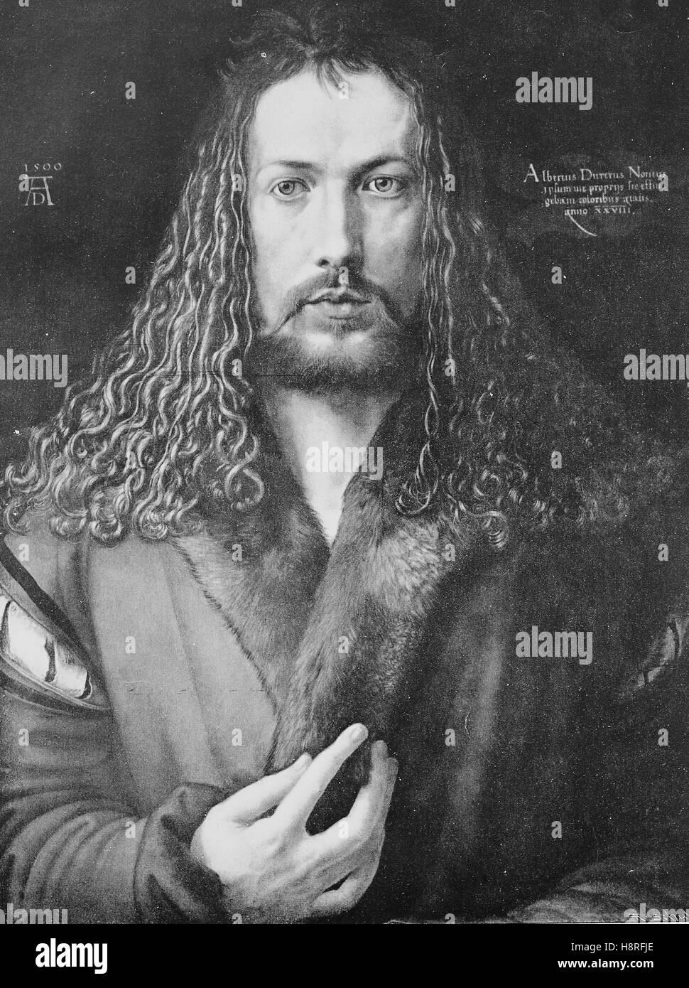 Albrecht Duerer was a painter, printmaker, and theorist of the German Renaissance - Stock Image