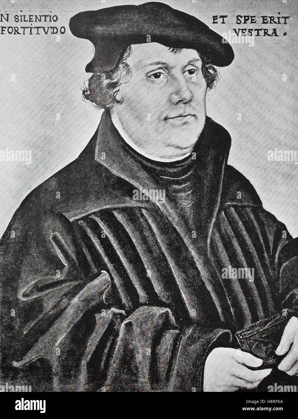 Martin Luther was a German professor of theology, composer, priest, monk and a seminal figure in the Protestant - Stock Image