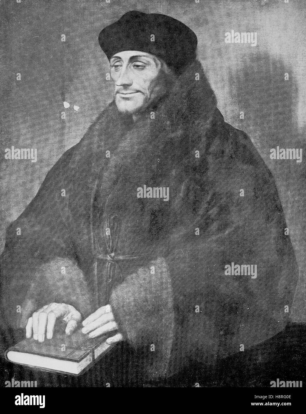 Desiderius Erasmus Roterodamus, known as Erasmus or Erasmus of Rotterdam, was a Dutch Renaissance humanist, Catholic - Stock Image