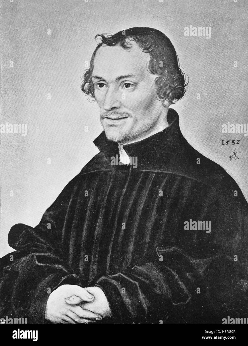 Philip Melanchthon, born Philipp Schwartzerdt was a German Lutheran reformer - Stock Image