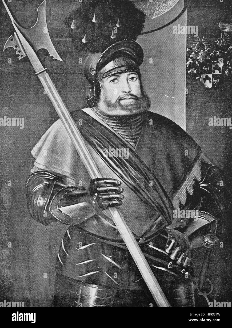 Georg von Frundsberg was a South German military and Landsknecht leader in the service of the Imperial House of - Stock Image